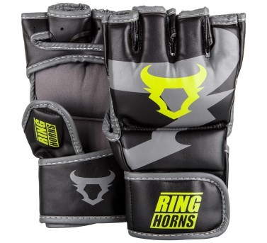Ringhorns rokavice za MMA, grappling Charger - Black/Neo Yellow