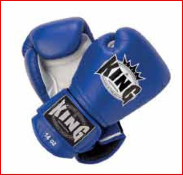 King Professional Blue rokavice za boks, kickbox, MT - usnje