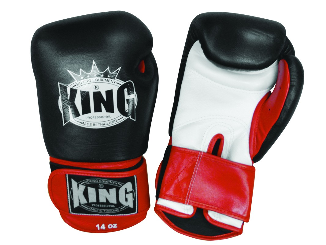 Akcija -30%: King Professional black/red rokavice za boks, kickbox, MT - usnje