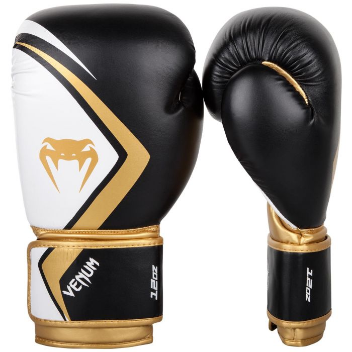 Venum rokavice za boks, kickbox, MT Contender 2.0 - Black/White/Gold