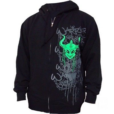 RAZPRODAJA| Warrior Hoody pulover s kapuco Drip Zip Up Black
